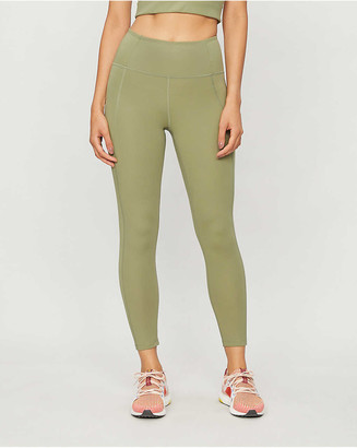 Girlfriend Collective Compression 7/8 high-rise stretch-jersey leggings