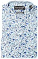Nick Graham Floral Print Stretch Shirt Men's Clothing