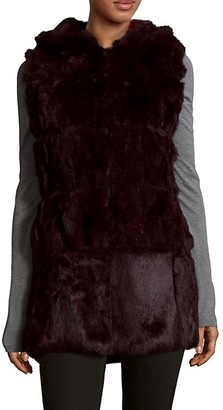 Belle Fare Plush Dyed Rabbit Fur Vest