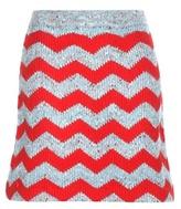 Miu Miu Knitted virgin wool and alpaca-blend miniskirt