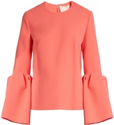 Roksanda Truffaut bell-sleeved stretch-cady top