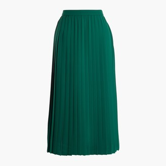 J.Crew Long pleated midi skirt