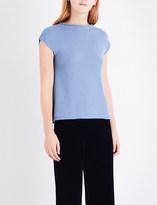 Armani Collezioni Knitted cashmere top