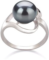 PearlsOnly 9-10mm AA Quality Freshwater 925 Sterling Silver Cultured Pearl Ring - Size-8