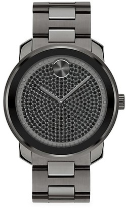 Movado Bold IP Stainless Steel Crystal Quartz Watch