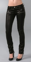 Skinny Leather Pants with Zippers