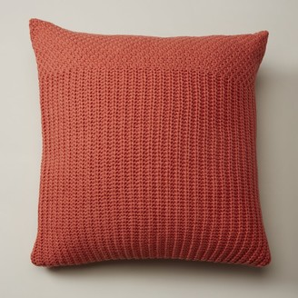 """Oui Recycled Knit Pillow Cover Gerber Daisy 20"""" X 20"""""""