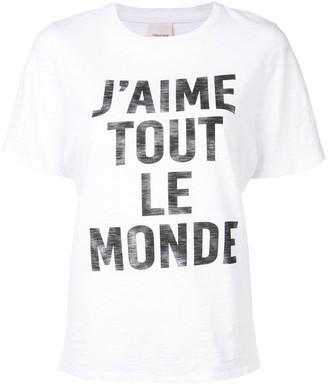 Cinq à Sept 'J'aime Tout Le Monde' T-shirt