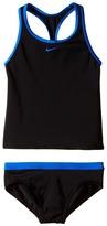 Nike Solid Racerback Tankini Girl's Swimwear