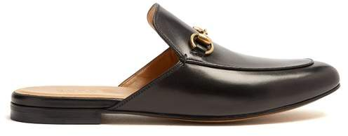 Gucci Princetown Backless Loafers - Mens - Black