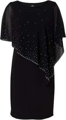 Wallis Black Embellished Overlay Dress