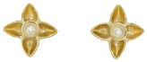 Megan Thorne Veil Floral Diamond Stud Earrings - Yellow Gold
