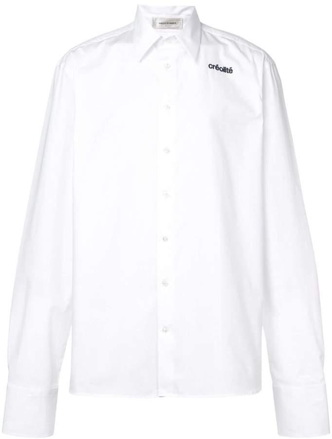 Wales Bonner créalité embroidered shirt