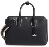 MCM Medium Milla Studded Leather Tote - Black