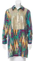 Figue Embellished Silk Tunic