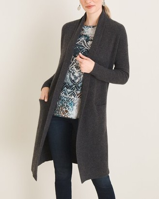Chico's Cashmere Two-Pocket Cardigan
