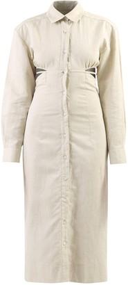 Jacquemus Button-Up Cut-Out Detail Midi Dress