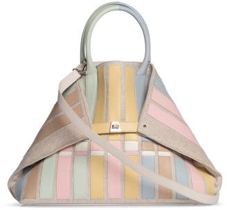 Akris Ai Medium Variazoni Canvas & Leather Tote Bag