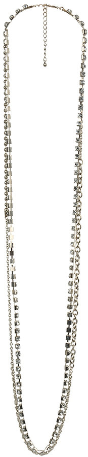 Forever 21 Rhinestone Chain Necklace