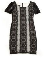 Un Deux Trois Girl's Lace Shift Dress