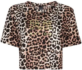 P.E Nation Bar Down leopard print T-shirt