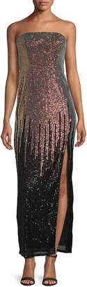 TFNC Sirina Ombre Sequin Strapless Maxi Gown