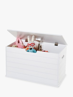 Great Little Trading Co Small Classic Toy Box, White