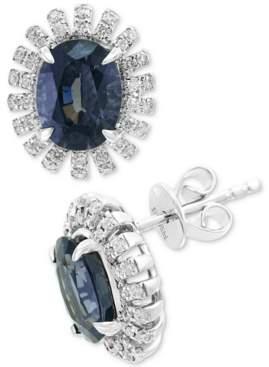Effy Gray Spinel (3-1/10 ct. t.w.) & Diamond (1/3 ct. t.w.) Stud Earrings in 14k White Gold