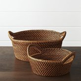 Crate & Barrel Artesia Bread Baskets
