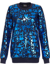 Markus Lupfer Treasure Navy Stencil Foil Sweatshirt