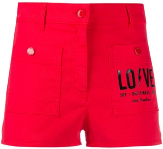 Love Moschino Logo Print Shorts