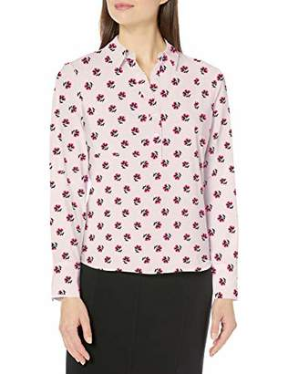 Lark & Ro Women's Collared Blouse Popover Dress,(EU L)
