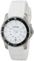 Victorinox 241491-Women's Quartz Analogue Watch-White Rubber Strap