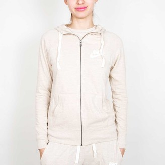 Nike Oatmeal and Sail Gym Vintage Full Zip Womens Hoodie - xl | beige - Beige