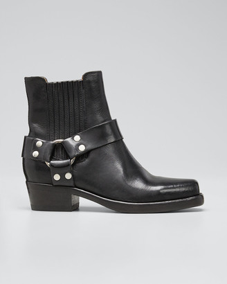 RE/DONE Short Cavalry Leather Harness Boots