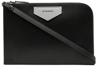 Givenchy Logo Plaque Clutch Bag