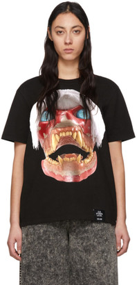 S.R. STUDIO. LA. CA. Black ED. 50 White Haired Red Skull T-Shirt