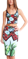 Clover Canyon Broken Bloom Reversible Crop Top
