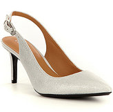Calvin Klein Giovanna Pearlized Leather Pointed-Toe Sling Pumps