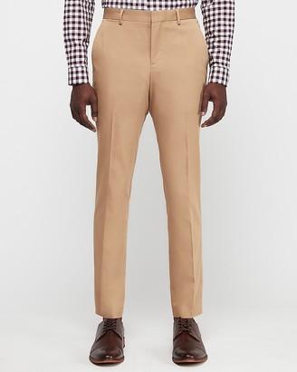 Express Slim Camel Cotton-Blend Stretch Suit Pant