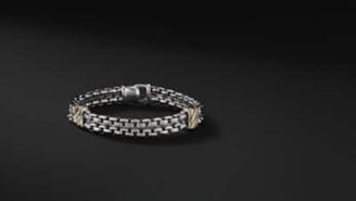 David Yurman Cable Classic Collection Two-Row Chain Bracelet With