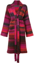 The Elder Statesman striped cardi-coat - women - Cashmere - XS