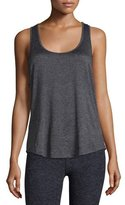 Beyond Yoga Crisscross-Side Jersey Muscle Tank Top, Black Steel