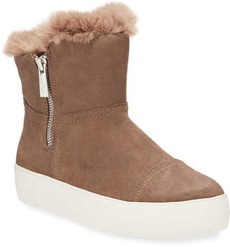 J/Slides Alistar High-Top Faux-Fur Bootie Sneakers