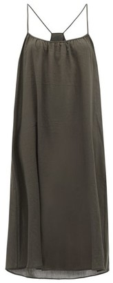 Loup Charmant Scoop Neck Organic Cotton Slip Dress - Womens - Grey