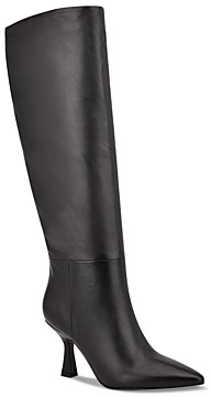 Marc Fisher Women's Hallie Pointed Toe High Heel Tall Boots