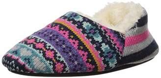Dearfoams Girl's Sweater Knit Bootie Slipper