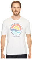 Life is Good Color Block Sunrise Smooth Tee Men's Short Sleeve Pullover