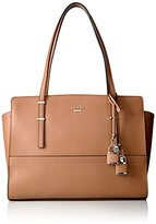 GUESS Devyn Large Satchel-Caramel