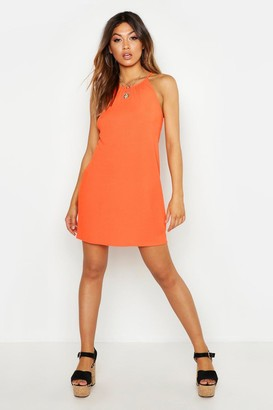 boohoo Rib Strappy Shift Dress